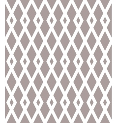 Seamless pattern with black rhombuses on white vector image