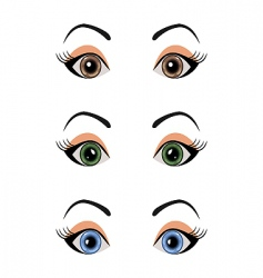 set female eyes isolated vector image