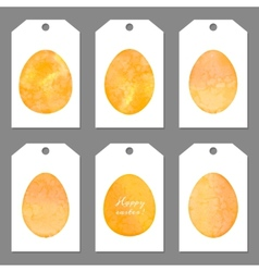 Set of tags for Easter Watercolor silhouettes eggs vector image vector image