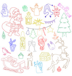 sketchy hand drawn doodle cartoon set of vector image