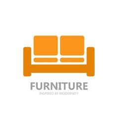 Sofa furniture logo or symbol icon vector