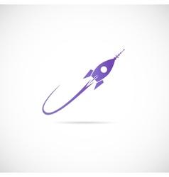 Space ship symbol icon or label vector