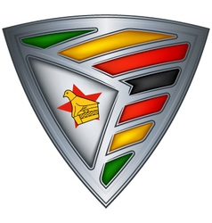 steel shield zimbabwe vector image