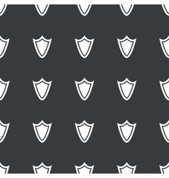 Straight black shield pattern vector image