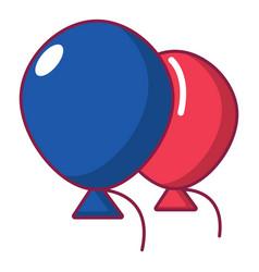 Wedding ballons icon cartoon style vector