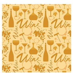 white wine pattern vector image vector image