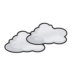 drawing cloud space climate heaven vector image