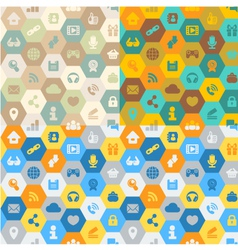 Internet cells seamless pattern vector