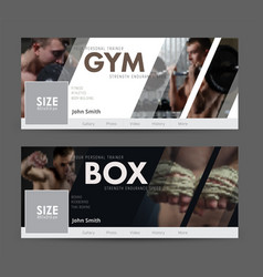 Universal advertising template banner for social vector