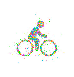 cyclists abstract biker vector image