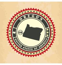 Vintage label-sticker cards of oregon vector