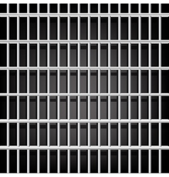 Prison grid on black vector