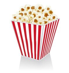 Popcorn in a box vector