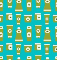 Seamless pattern of cosmetics containers vector