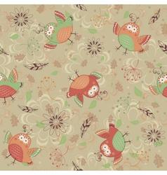 Bird pattern vector image