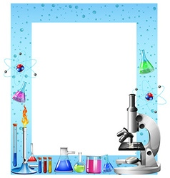 Science tools and containers vector