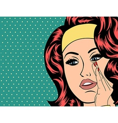 Pop art of girl vector