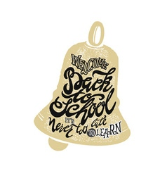 Welcome back to school hand lettering sketch vector