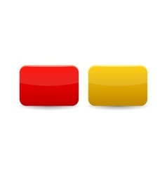 Red and yellow cards icon cartoon style vector image