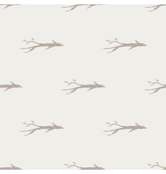 Hand drawn branch seamless pattern vector