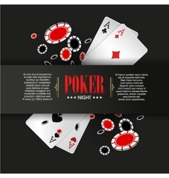 Casino poker poster or banner background or flyer vector