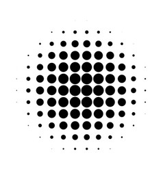 abstract halftone circle gradation background vector image vector image