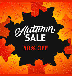 autumn sale design template vector image