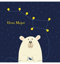 Bear connecting electrical plug constellation Ursa vector image