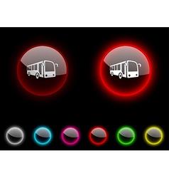 Bus button vector image vector image