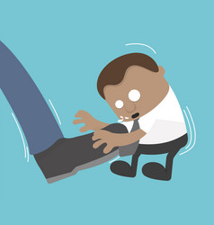 businessman big foot kicking flat vector image vector image