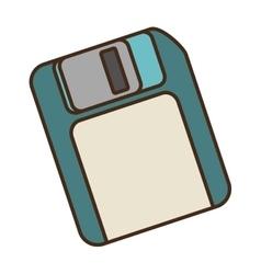 Cartoon floppy diskette storage information office vector