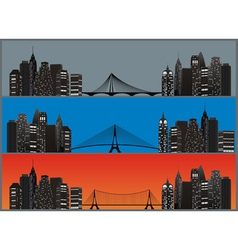 city set color vector image