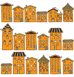 Cute seamless pattern with houses Home sweet home vector image