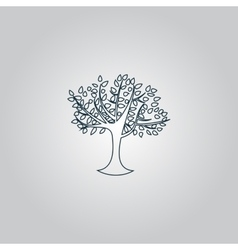 Decorative simple tree vector image vector image