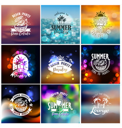 designs for summer beach party vector image vector image