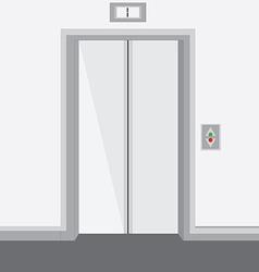 Elevator with closed doors vector