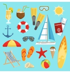 Flat Summerset Composition vector image vector image