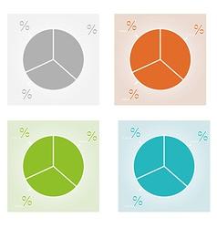 Four color pie charts vector