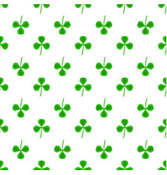 green clover seamless pattern shamrock background vector image vector image
