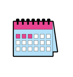 important calendar to remember special days vector image
