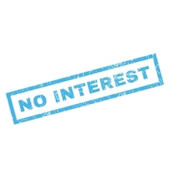 No interest rubber stamp vector