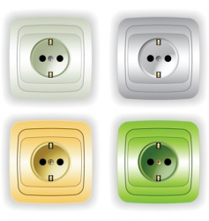 plugs vector image vector image