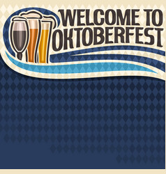 Poster for oktoberfest text vector