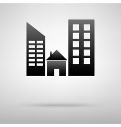 Real estate black icon vector image