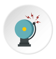 Ringing fire alarm bell icon circle vector