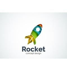 Rocket logo template vector image