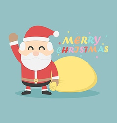 Santa Claus merry christmas vector image vector image