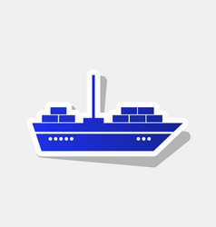 ship sign new year bluish vector image