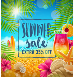Summer sale design vector
