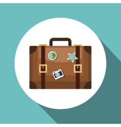 Travel suitcase retro vacation design vector